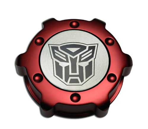 VMS Racing RED OIL CAP AUTOBOT Transformers in Billet Aluminum Compatible with Pontiac GTO LS2 6.0L engine 05-06 2005-2006