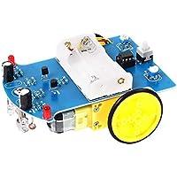 BFHCVDF Capteur Intelligent Intelligent, Suivi de Ligne, Module de Voiture de Robot suiveur, kit de Bricolage Bleu et Jaune