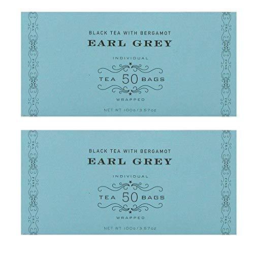 Harney & Sons Black Tea, Earl Grey, 50 Tea Bags (Pack of 2)