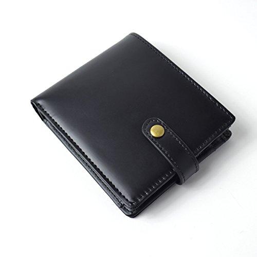 22dcffb49c4f Amazon | [マージ] Merge 二つ折り財布 メンズ 馬革 牛革 クロコ型押し ...