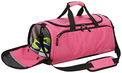 Rominetak Gym Bag Sports Travel Duffel Bag for Men and Women with Shoes Compartment