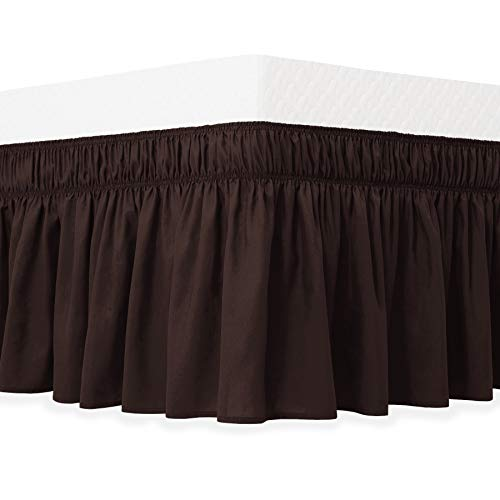chocolate bed skirts queen size - 6
