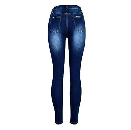 Amazon.com: Pantalones vaqueros MY Denim, perlas de dos ...