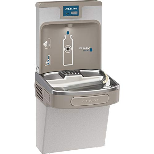 Elkay LZS8WSLP Enhanced EZH2O Bottle Filling Station & Single ADA Cooler, Filtered 8 GPH Light Gray from Elkay