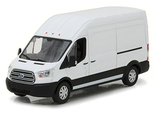 2017 Ford Transit LWB High Roof Oxford White 1/43 Diecast Model Car by Greenlight 86083