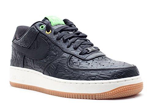 Nike Air Force 1 Low Premium Brasil Premium QS Mens Basketball Shoes [486815-001] Black/Black Mens Shoes 486815-001-10 ()