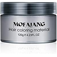 Salon Hair Styling Pomade Silver Ash Grandma Grey Hair Waxes Temporary Disposable Hair Dye Coloring Mud Cream Unisex - Grey