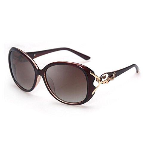 marea equipar se femeninas de Polaroid la sol WLHW Color la de miopía Las de Resin UV400 sol gafas personas Personality las pueden de Gafas retro Box la Gafas Marrón moda de de Marrón 1tgtqRwx