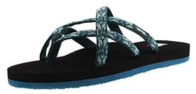 Teva Women's Olowahu Sandal, Hazel Blue, 5 M US
