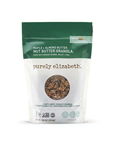 purely elizabeth Non GMO Organic Maple Almond Nut Butter Granola, 10 Ounce