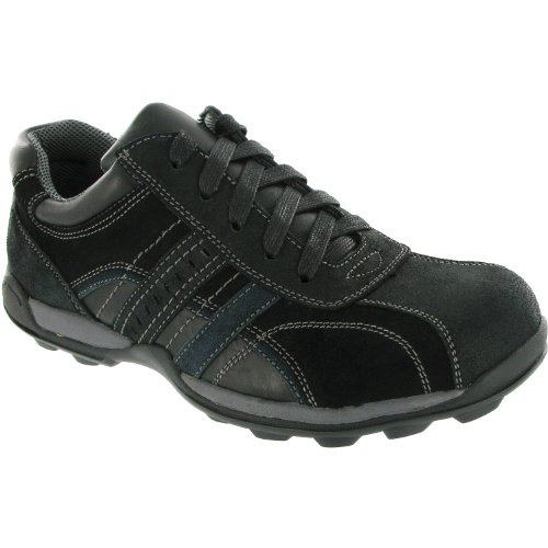 Amblers Mens Paul Lace Leather Casual Trainers Black negro - negro