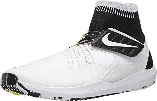 Nike Men Flylon Train Dynamic Shoes - White/Black (9.5)