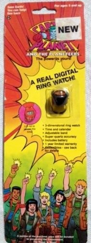 Captain Black Heart (Captain Planet and the Planeteers Wheeler's Black Fire Power Ring / Digital Watch (Vintage 1990))