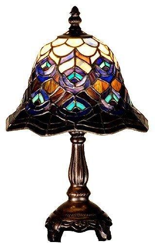 Peacock Feather Mini Lamp