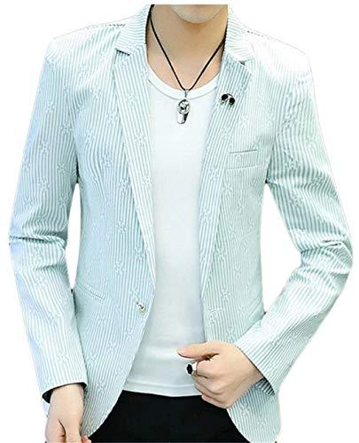 Longues Élégant Jacket Fit Loisirs 1 Slim Clothing Manches Business Casual À Bouton Wedding Mens Lichtgrün Blazer 46znaHxqw