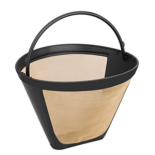 Nicelucky 4 Cone Shape Permanent Coffee Filter With Handle fits Mr. Coffee Cup (Beach Shapes)