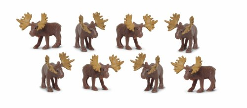 Safari Ltd. Good Luck Minis - Moose - 192 Pieces - Quality Construction from Phthalate, Lead and BPA