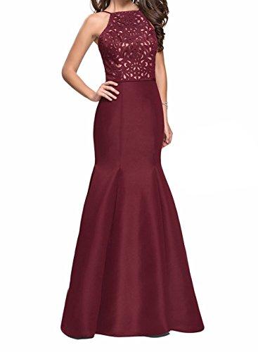 Lila Rock Dunkel Damen Promkleider Abendkleider Meerjungfrau Lang Trumpet Charmant Burgundy Ballkleider Partykleider 1wfqZyx
