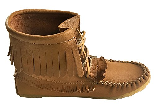 Laurentian Chief Women Omzoomde Mocassin Schoenen Lace Up Enkellaarsjes