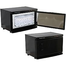 Black High Capacity Hot Towel Cabinet & UV Sterilizer 24 Ultra Soft Microfiber Facial Towels Included Salon Spa Equipment