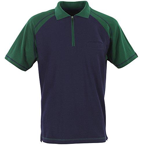 """Mascot Polo-shirt """"Bianco"""", 1 Stück, S, marineblau/grün, 50302-260-13-S"""