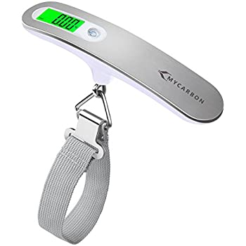 Luggage Scale MYCARBON Digital Scale,High Precision,Heavy Duty Weight Scale,Backlight Hanging Scale,Ultra Portable Scale,MAX 110lb/50kg Suitcase Scale for Travel,Household,Outdoor and Gifts