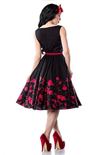 50 sw 16 Con Motivos De Chic Flores Vestido Años Decorada Rockabilly Schwarz Star 1 A13847 FOOxn5wA