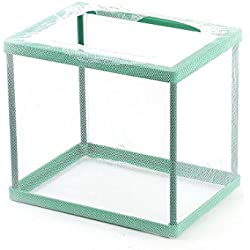 uxcell Nylon Aquarium Fish Tank Floating Isolation Divider Breeding Hatchery Green