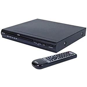 GPX D1816 DVD Deck with Remote Control, Black