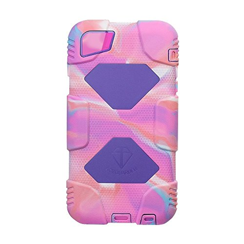 ACEGUARDR iphone 6 Case (Military Heavy Duty)shockproofrain resistanceanti-dirt best case with Back Cover Standing and screen protector for Apple iphone 6 4.7Inch [iphone 6,Pink Camo/Purple]