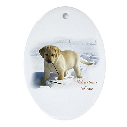 (CafePress Labrador Retriever Ornament (Oval) Oval Holiday Christmas Ornament)