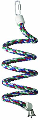 Super Bird Creations 1/2-Inch by 52-Inch Rope Bungee Bird Toy, Small from Super Bird Creations