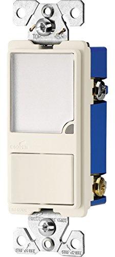EATON 7738LA-BOX Wiring Night Switch, 120 Vac, 1 W, 15 A, 1 Poles, Led, 50000 Hr, Thermoplastic, Light, Almond