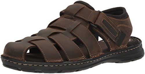 Rockport Men's Darwyn Fishermen Sandal, Brown Ii Leather, 9 M US (Brown Leather Sandals)