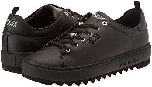 Femme Pearls nero Jeans Gymnastique Sneakers K299 And De Noir Trussardi Pins Chaussures Faux qzAOwXFqxT