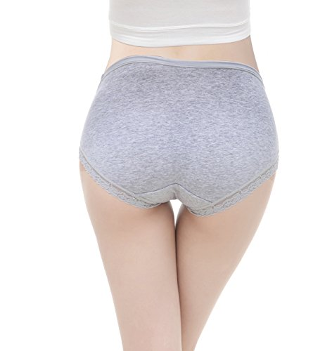 Maternity Underwear, KUCI® Women's Pregnant Briefs Cotton Low-waist U-shaped Maternity Knickers/ Bragitas para Premama 3Pack Grey+Green+White/3Pack