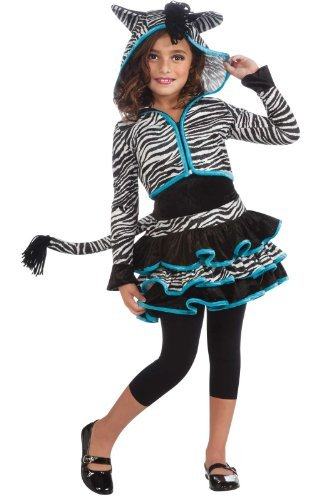 Rubies Costumes Zebra Hoodie Child Costume Black/White Large (12-14) by Rubie's