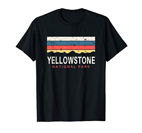 Yellowstone National Park T Shirt Vintage Gifts Souvenirs