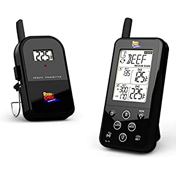 Maverick ET-733 Long Range Wireless Dual Probe BBQ Smoker Meat Thermometer with Larger Display and added Features -  Black
