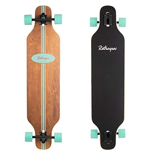 Retrospec Rift Drop-Through Longboard Skateboard Complete