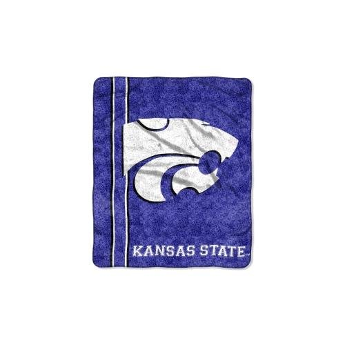 The Northwest Company Officially Licensed NCAA Kansas State Wildcats Jersey Sherpa on Sherpa Throw Blanket, 50