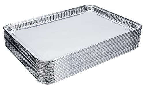 DOBI (15-Pack) Baking Pans - Disposable Aluminum Foil Baking Sheets - 16