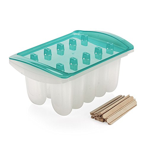 Sweet Creations Popsicle Maker Set with Wooden Sticks, Blue -