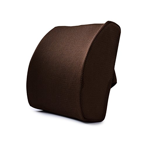 Memory Foam Lumbar Cushion - Premium Lumbar Support Pillow Lower Back Pain Relief, Protect & Soothe Your Back - Improve Your Posture - Soft & Firm Balanced Chair Pillow (B) ()