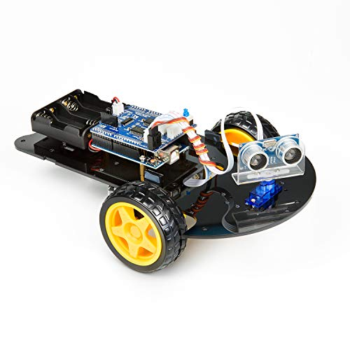UCTRONICS Smart Robot Car Kit for Arduino Automatic Avoidance of Obstacles with UNO R3, 2-Wheel Drives, HC-SR04 Ultrasonic Sensor, L293D Motor Control Shield, Micro Servo Motor 9g -