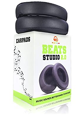 Wicked Cushions Beats Replacement Earpads - Compatible with Studio 2.0 Wired / Wireless Over Ear Headphones by Dr. Dre ONLY ( DOES NOT FIT SOLO 2.0 ) | Black from Wicked Cushions