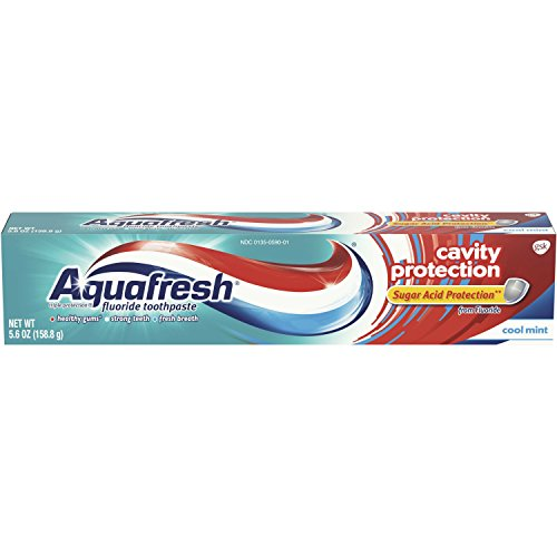 - Aquafresh Cavity Protection Fluoride Toothpaste, Cool Mint, 5.6 ounce