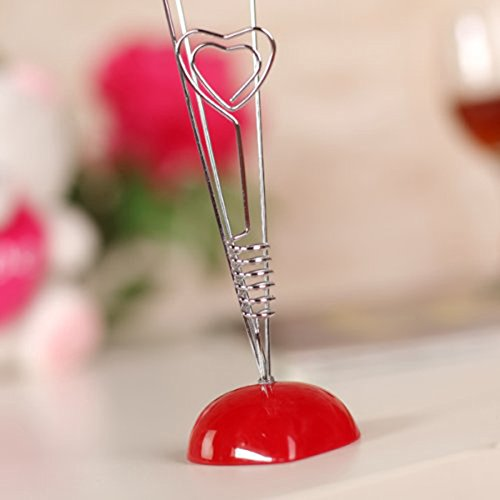 Tinksky Picture Stand-4 Clip Heart Photo Holder Card Note Memo Clip Tree Place Cards Holder