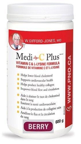 Dr. Gifford-jones Preferred Nutrition Medi-C Plus Vitamin C & L-lysine Formula Berry Flavour 600g