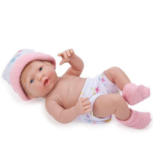 9.5 inch Mini La Newborn Baby Doll - Light Pink Booties